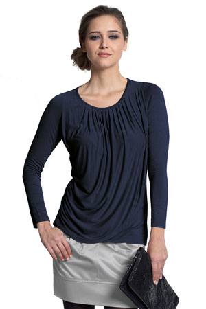 3412a4802acce9 Goddess Drape Nursing Top (India Ink) by Mothers en Vogue