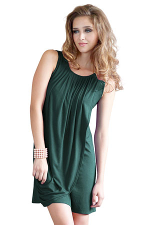 9dccf6415cf Goddess Drape Sleeveless Maternity & Nursing Dress (Myrtle Green) by Mothers  en Vogue