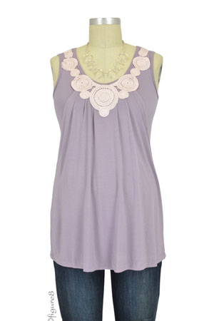 dab1fa301 Zahra Bamboo Applique Maternity & Nursing Top (French Lilac) by Mothers en  Vogue