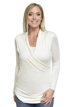9bf1b0e9382 Baju Mama Isabella Raw Edge Maternity & Nursing Top - Long Sleeve (Desert)  by
