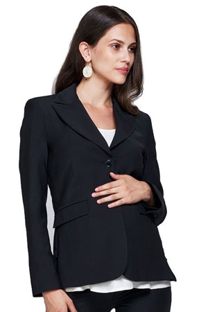 7636a11b5a7 Zurich Maternity Career Jacket with Side Zippers (Black) by Slacks
