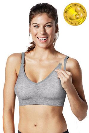d19d149f732d1 Bravado Designs Body Silk Seamless Yoga Nursing Bra (Dove Heather) by  Bravado Designs