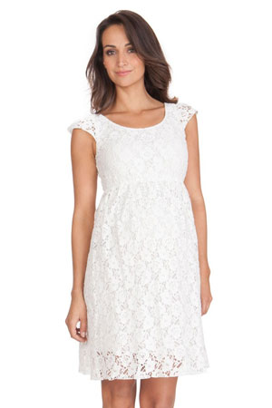 54e72c608f3 Seraphine Sloane Lace Maternity Dress (Off-White) by Seraphine