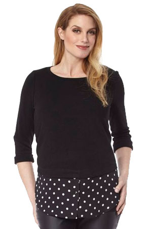 8a3572a812e Madison One-Button Maternity Suit Jacket. 66% off  156.00  53.20. Carla  Maternity Sweater Overshirt (Black Dots) by Jules   Jim