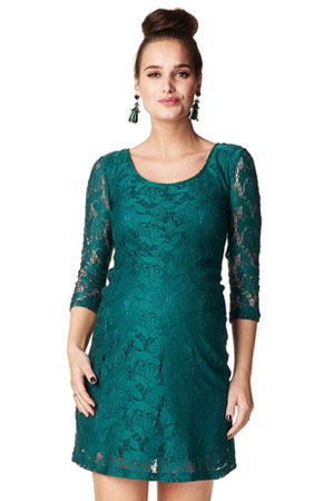 51ef92fc7a0 Kourtney 3 4 Sleeve Lace Maternity Dress (Bottle) by Noppies