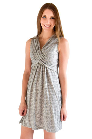Ava Sleeveless Wrap Maternity Amp Nursing Dress In Georgia