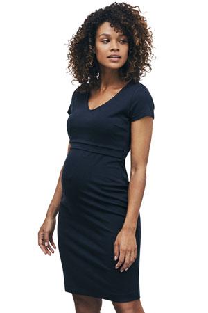 7f33b0d064474 Boob Design LBD Audrey Lightweight Ponte Maternity & Nursing Dress  (Midnight Blue) by Boob