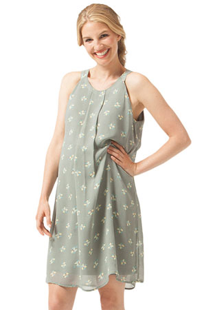 072dab2e3a60a Yvonne Halter Woven Maternity & Nursing Dress (Grey Floral) by Bove by  Spring Maternity