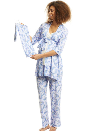 8a3c9cd7f57e5 Analise 5-Piece Mom and Baby Maternity and Nursing PJ Set (Sparrow) by