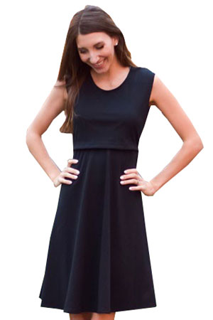 Peek A Boo Wrap Maternity Amp Nursing Dress In Black