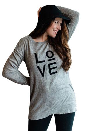 3ae2b19f7dd15 Seraphine Amelie Love Maternity & Nursing Sweater (Grey) by Seraphine