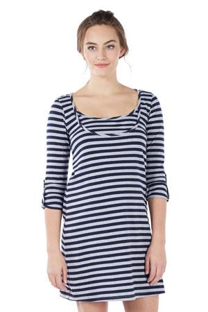 9f4facc49cf Painter Stripe Nursing Dress (Stripe Navy Grey) by Mothers en Vogue