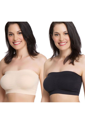 bc8272a5adbe0 La Leche League Seamless Strapless Nursing Bra - 2-Pack (Nude & Black)