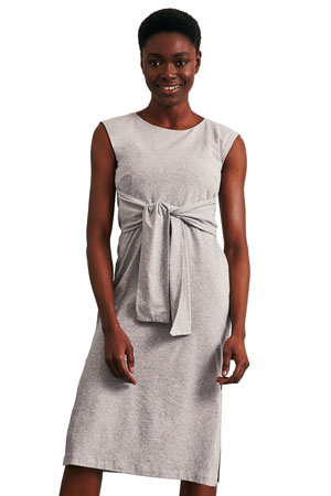 8d252f8ba55 Haley Sleeveless Organic Maternity   Nursing Dress (Grey Melange) by Boob  Design