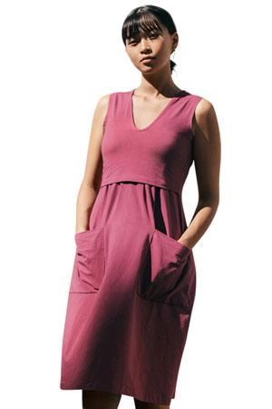 3cd7dfb6b1658 The Depot Organic Maternity & Nursing Dress (Soft Cherry) by Boob Design