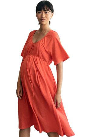 e8c02b2be608f Boob Design Breeze Organic Cotton Slub Multi-Way Maternity & Nursing Dress  (Poppy)
