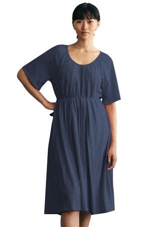 01c5ab313d6fc Boob Design Breeze Organic Cotton Slub Multi-Way Maternity & Nursing Dress  (Midnight Blue