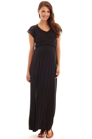 e249bd62a1d8f Margaret Maternity & Nursing Dress (Black) by Everly Grey