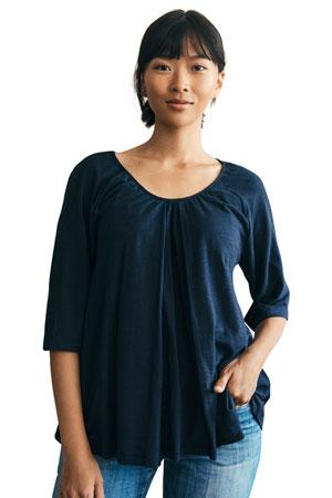 4e94a8032d7 Boob Design Breeze Organic Cotton Maternity   Nursing Top (Midnight Blue)  by Boob Design