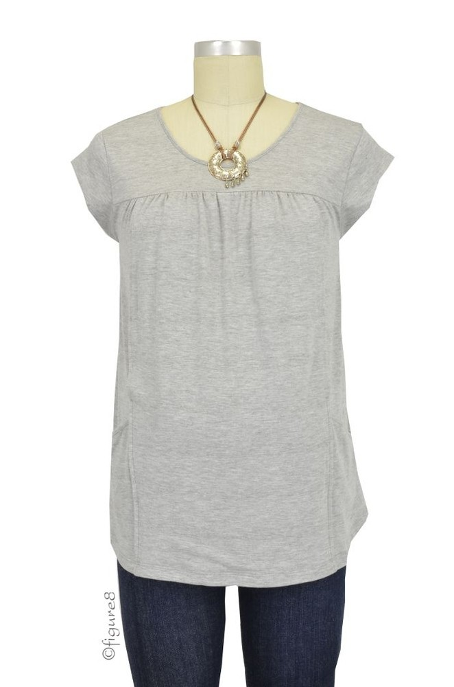 Fiona Pocket Nursing Top (Heather Grey)
