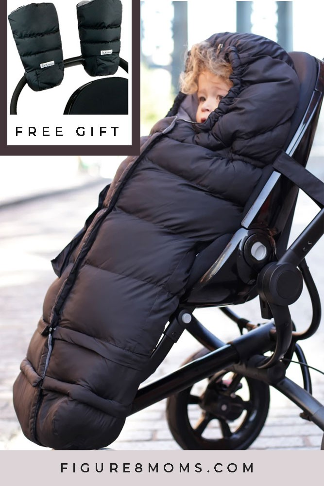 7 A.M. Enfant Blanket 212 Evolution with Free Matching Warmmuffs (Black)