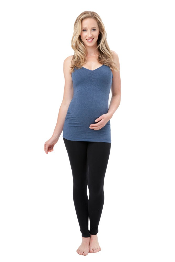 Ripe Ultimate Express Padded Nursing Tank (Denim Marle)