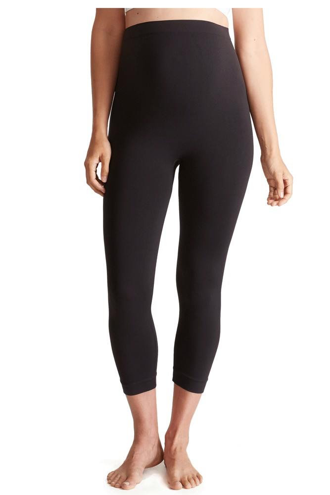 Ingrid & Isabel Capri Belly Leggings (Black)
