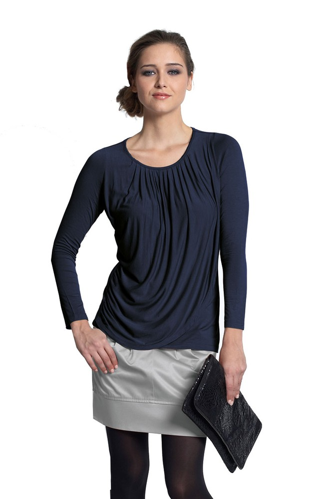 Goddess Drape Nursing Top (India Ink)