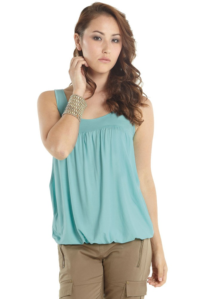 Britney Bubble Nursing Tank (Nile Blue)