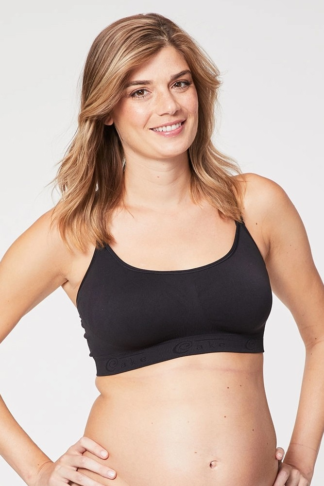 Cake Maternity Cotton Candy Sleep & Yoga Maternity & Nursing Bra (Black)