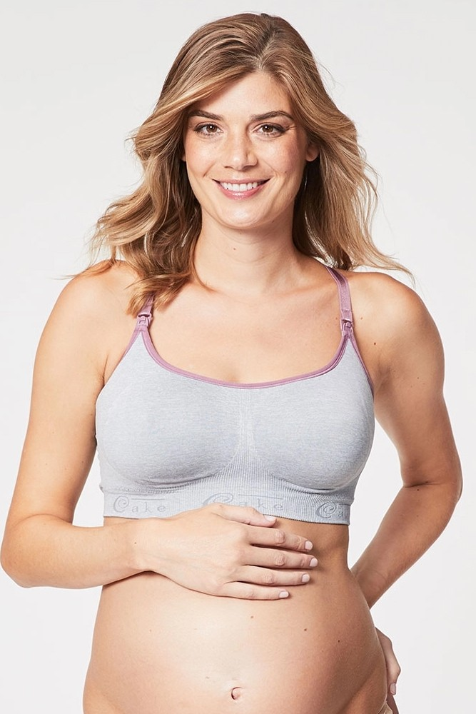 Cake Lingerie Cotton Candy Sleep & Yoga Maternity & Nursing Bra (Heather Grey)