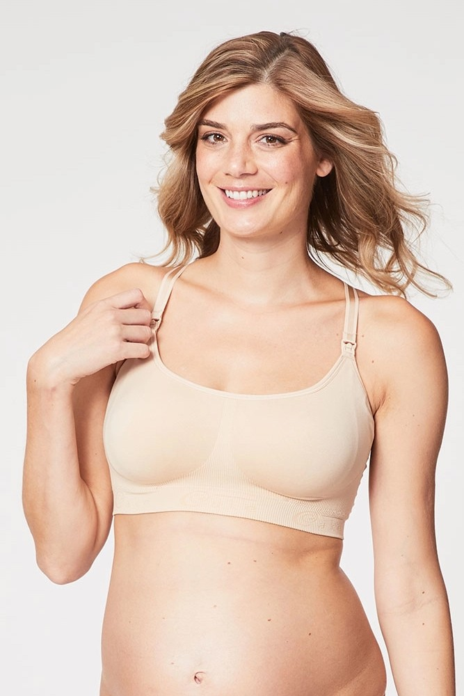 Cake Lingerie Cotton Candy Sleep & Yoga Maternity & Nursing Bra (Beige)