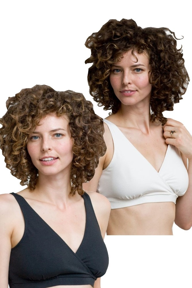 Majamas Organic Padded Daily Bra - 2 Pack (Black & Ivory)
