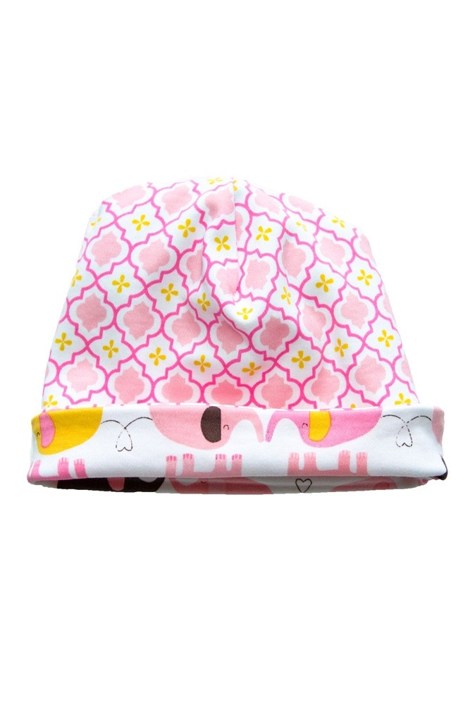 Magnetic Me™ by Magnificent Baby Cotton Reversible Cap (Elephant/Marrakesh)