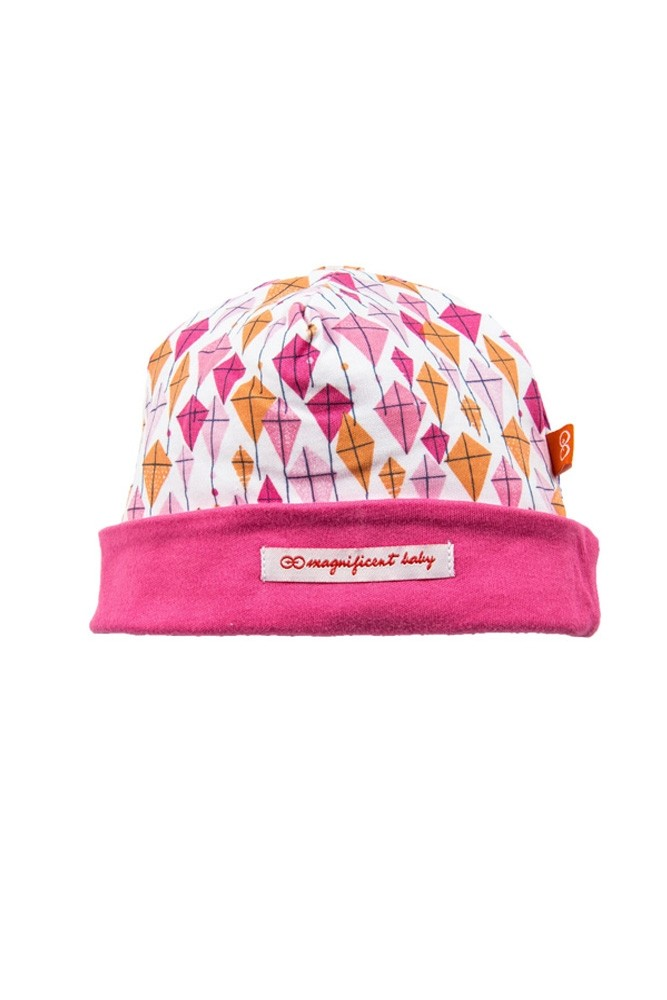Magnetic Me™ by Magnificent Baby Cotton Cap (Pink Kites)