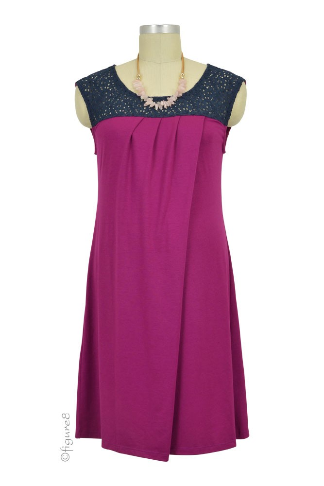 Colette Crochet Nursing Dress (Magenta)