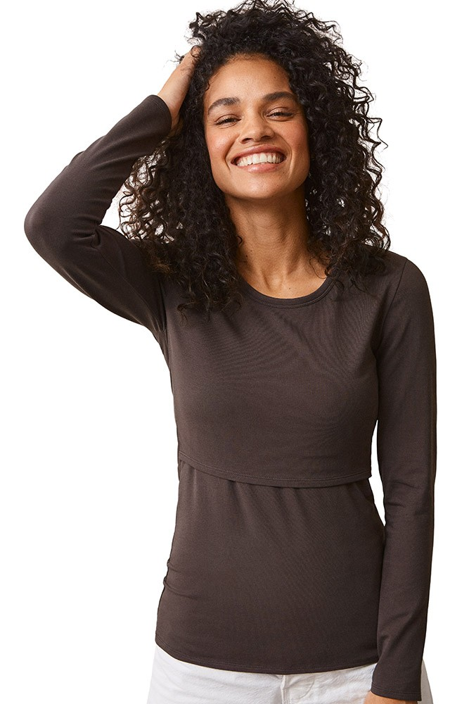 Boob Design Classic Organic Long Sleeve Maternity & Nursing Top (Pip)