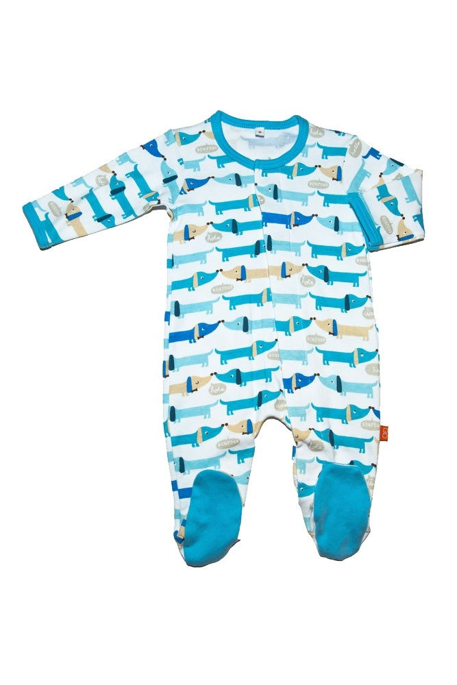 Magnificent Baby Magnetic Me™ Baby Boy's Footie (Hello Hotdog)