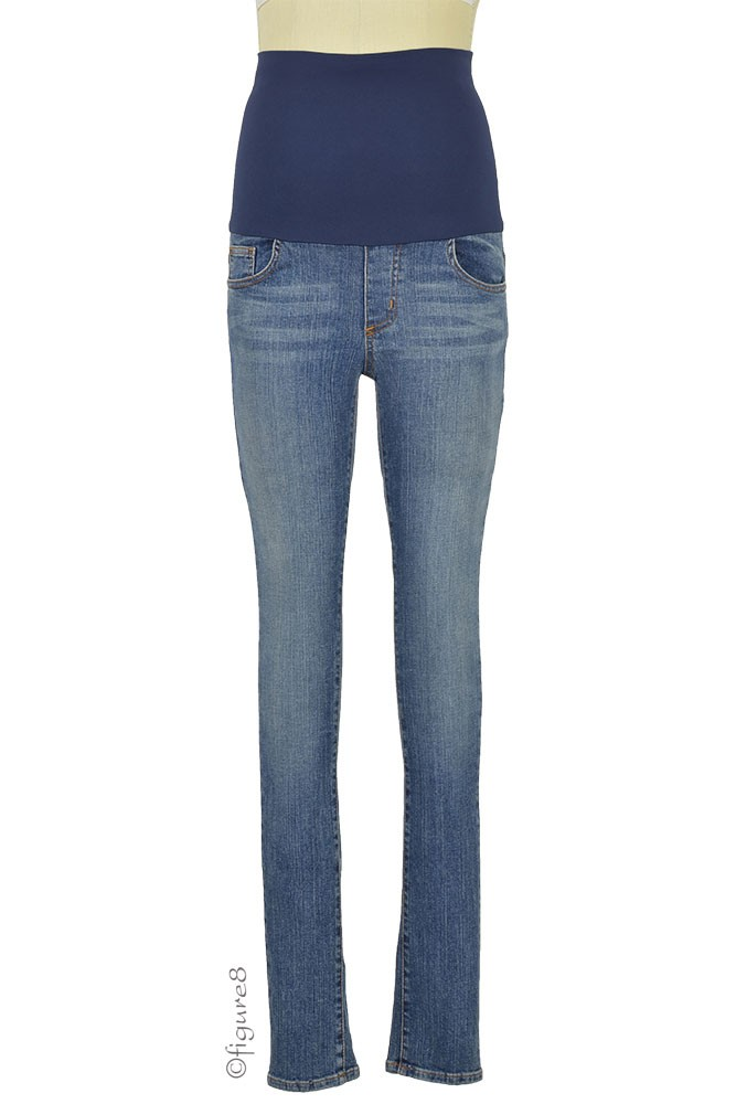 Belly Support Skinny Maternity Jeans (Stone Wash)