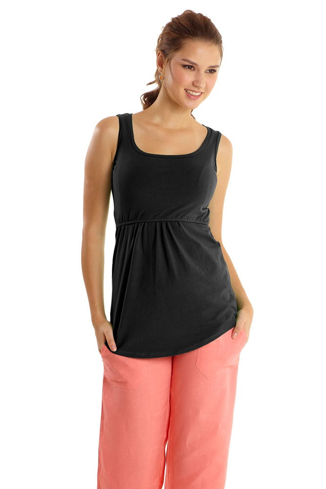 Avery Must-Have U-Neck Organic Nursing Tank (Black)