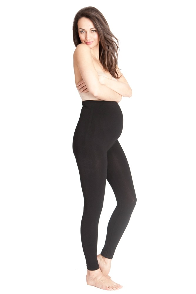 Seraphine Tammy Over Bump Bamboo Maternity Leggings (Black)