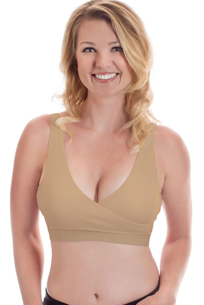 Rumina Classic Crossover Hands-Free PumpΝrse™ Bra with Adjustable Back Clasp (Nude)