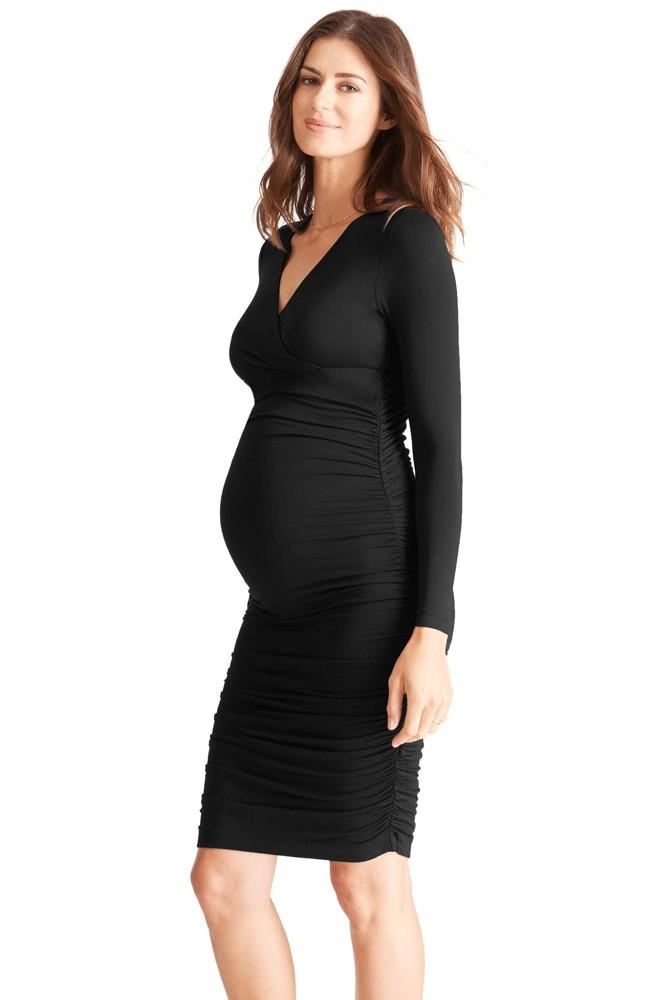 27b00f76eeffd Ingrid & Isabel Empire Shirred Maternity Dress in Jet Black