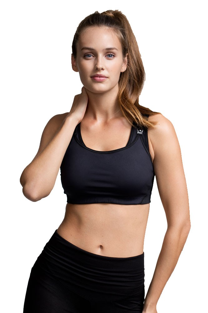 Boob Design Fast Food Nursing Sports Bra (Black)