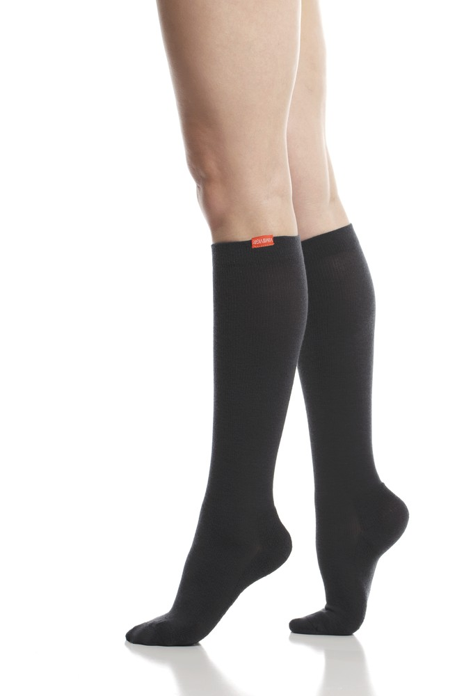 Vim & Vigr 15-20 mmHg Compression Socks - Moisture-Wick Nylon (Black)