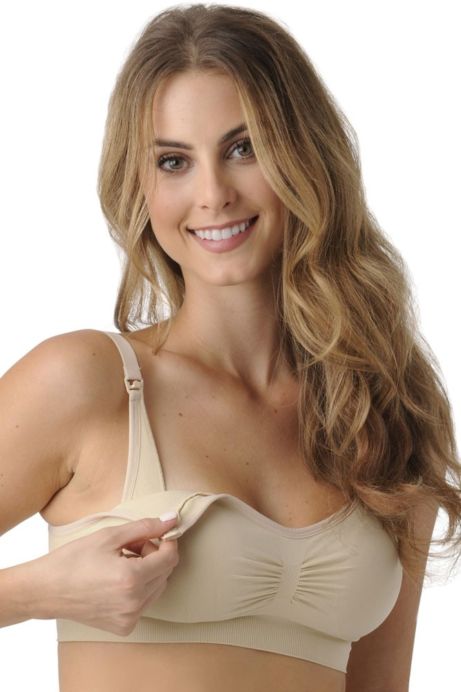 Bandita Nursing Bra with Removable Padding by Belly Bandit (Nude)