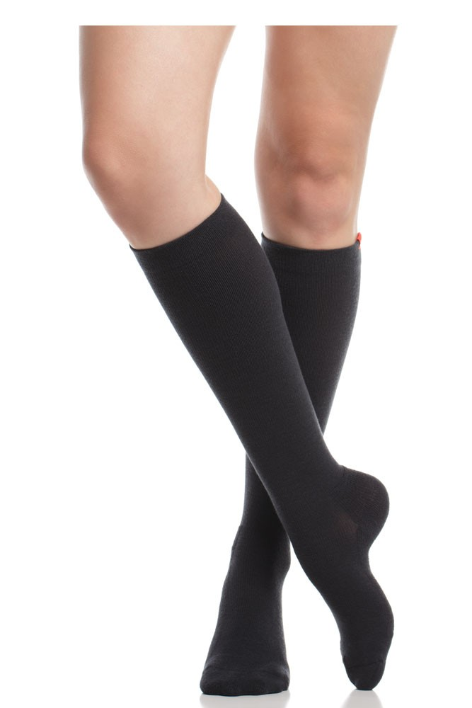 Vim & Vigr 15-20 mmHg Compression Socks - Wool (Black)