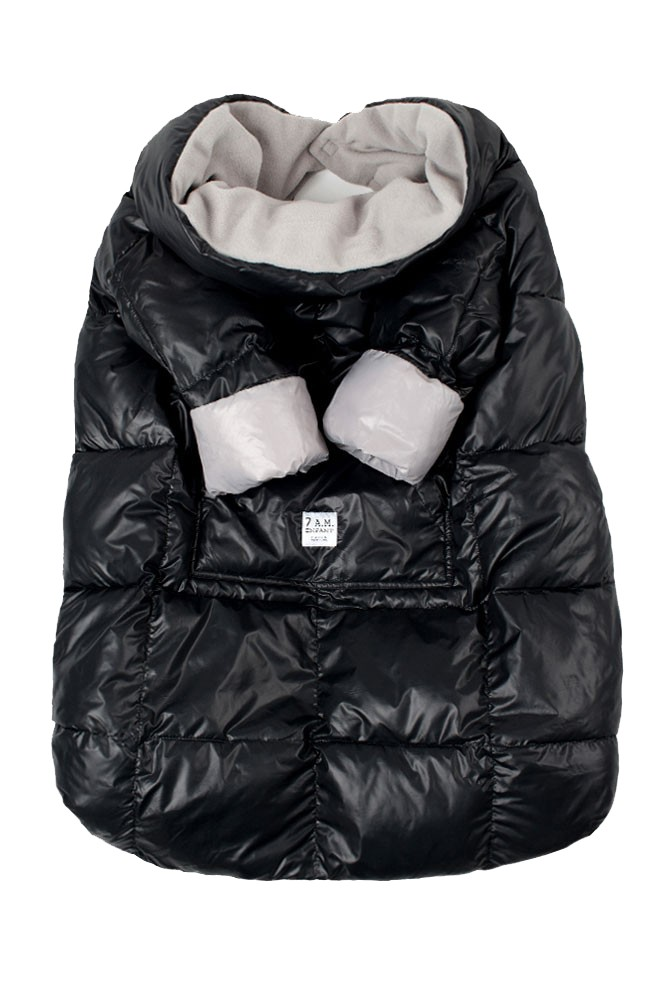 7 A.M. Enfant Quilted Easy Cover (Large: 3y-6y) (Black/Grey)