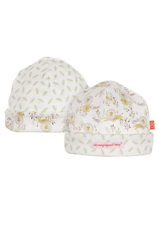 Magnetic Me™ by Magnificent Baby Cotton Reversible Cap (Green)