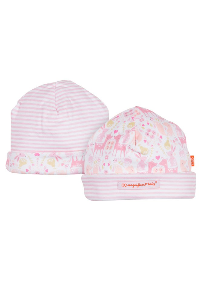 Magnetic Me™ by Magnificent Baby Cotton Reversible Cap (Damask)